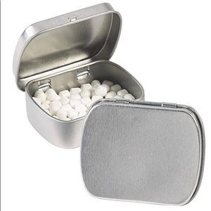 Silver mint tins party favor gift mints included